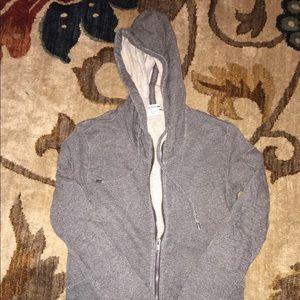 Grey Lacoste Hoodie